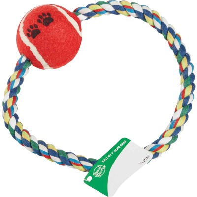 Smart Savers 7 In. Tug Rope Ring Dog Toy