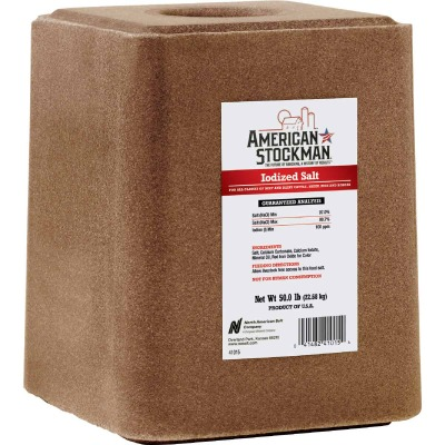 American Stockman 50 Lb. Iodized Salt Block