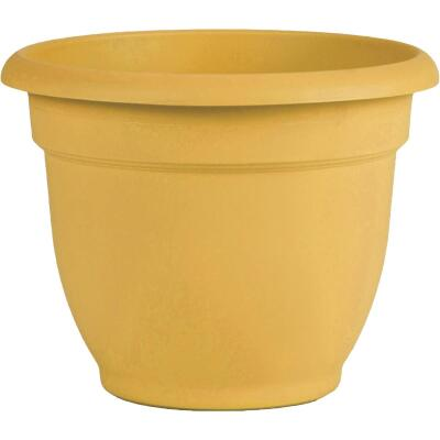 Bloem Ariana 13.75 In. H. x 16 In. Dia. Plastic Self Watering Earthy Yellow Planter