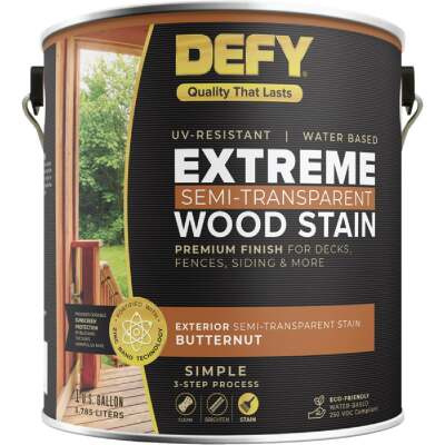 DEFY Extreme Semi-Transparent Exterior Wood Stain, Butternut, 1 Gal. Can