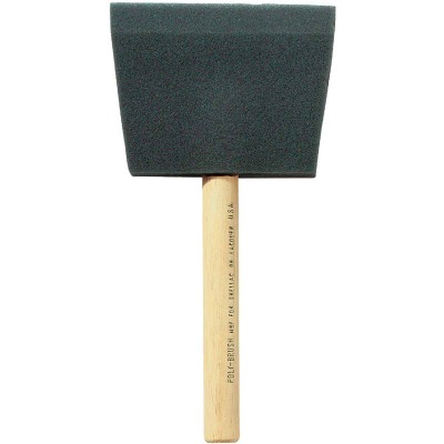Jen 4 In. Poly Foam Brush with Wood Handle