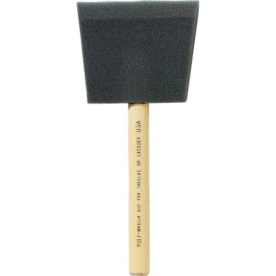 Jen 3 In. Poly Foam Brush with Wood Handle