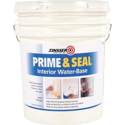 Zinsser Interior Prime & Seal Water-Based Primer, White, 5 Gal.