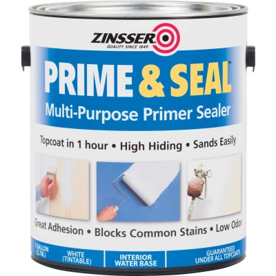 Zinsser Interior Prime & Seal Water-Based Primer, White, 1 Gal.