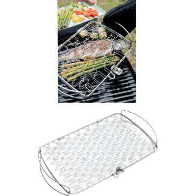 Weber 10 In. W. x 16 In. L. x 2.25 In. D. Large Flexible Wire Fish Grill Basket