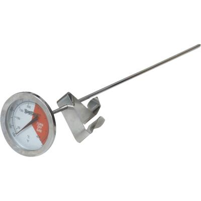 Bayou Classic Analog 12 In. Stainless Steel Thermometer