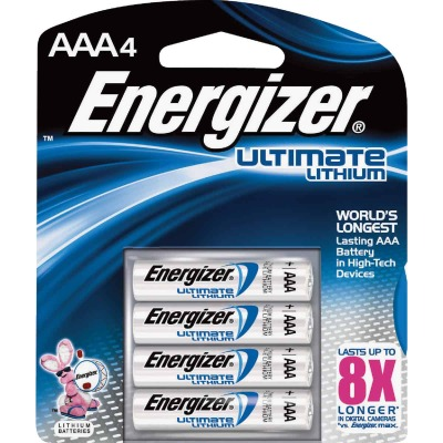 Energizer AAA Ultimate Lithium Battery (4-Pack)