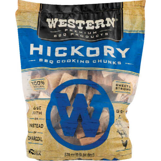Western 570 Cu. In. Hickory Wood Smoking Chunks