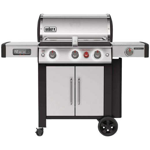 Weber Genesis II Smart Grill SX-335 3-Burner Stainless Steel 39,000 BTU LP Gas Grill w/Side Burner & Sear Burner