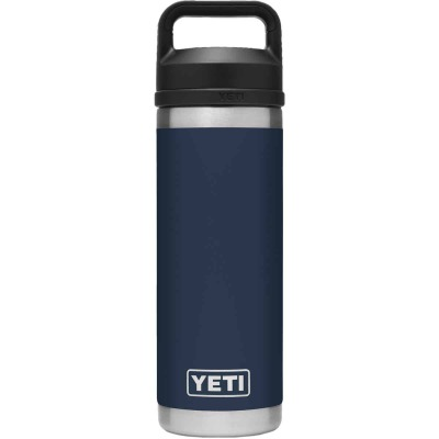 Yeti Rambler 18 Oz. Navy Stainless Steel Insulated Vacuum Bottle with Chug Cap