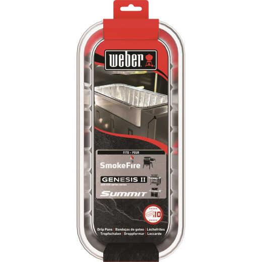 Weber 11 In. x 5 In. x 2.5 In. Aluminum Drip Pans (10-Pack)