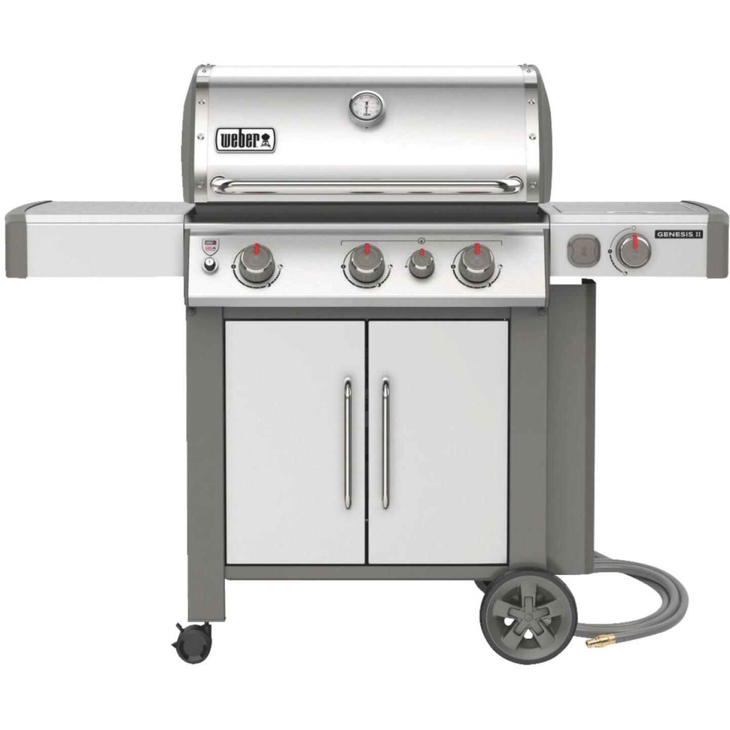 Weber Genesis II S-335 3-Burner Stainless Steel 39,000 BTU Natural Gas Grill with 12,000 BTU Side -Burner Image 1