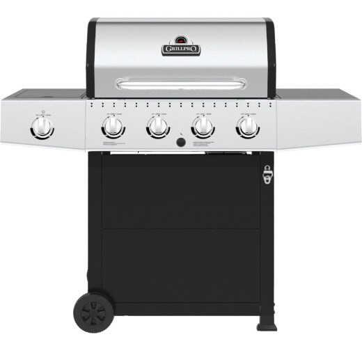 GrillPro 4-Burner Stainless Steel & Black 40,000 BTU LP Gas Grill