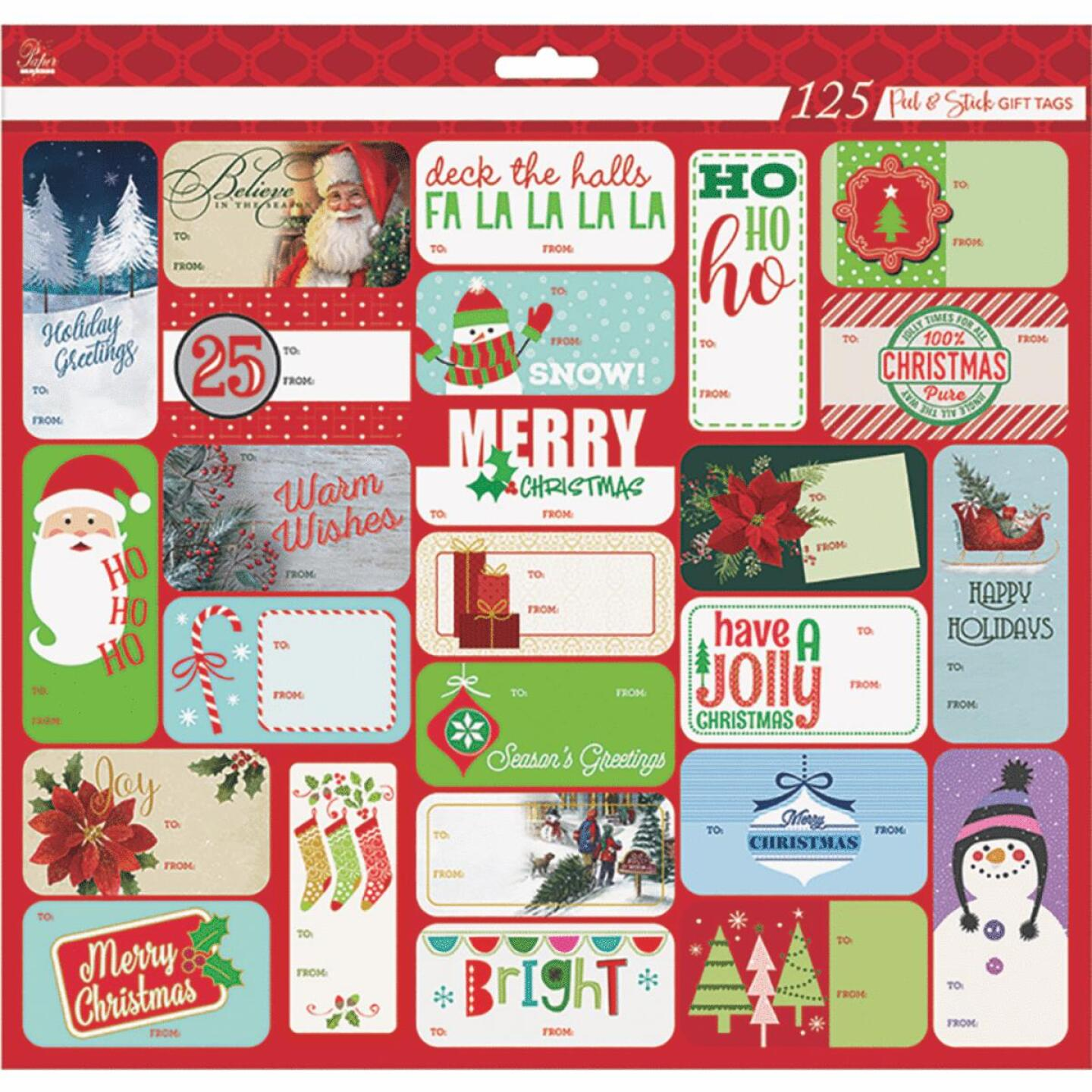 Paper Images Christmas Gift Tags (125-Pack) Image 2